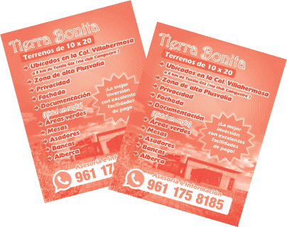 Imprimir volantes en tuxtla gutierrez